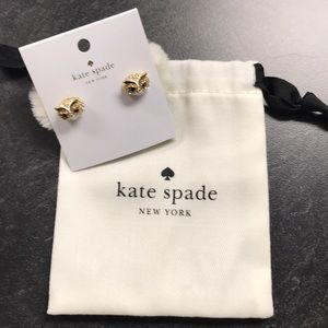 KATE SPADE star bright owl earrings
